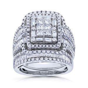 Jewelry - Princess Cut White Sapphire 925 Sterling Silver Ha